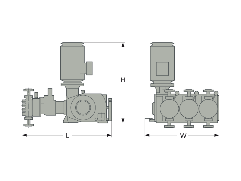 LEWA G3 process pump dimensions